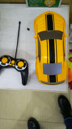 4.9万+评价德馨1:12大尺寸儿童遥控车一键变形机器人玩具车充电模型汽车人 男孩赛车生日礼物节日 二代1比12威震天 晒单图