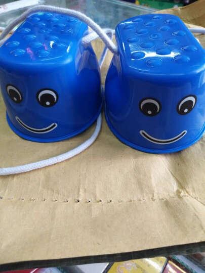 影享  幼儿园儿童感统训练器材踩高跷宝宝运动户外玩具拓展道具早教平衡 蓝色笑脸高跷鞋 晒单图