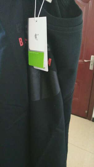 乔丹 男装上衣运动套头卫衣休闲男上衣 XWD3371109 黑色 2XL 晒单图