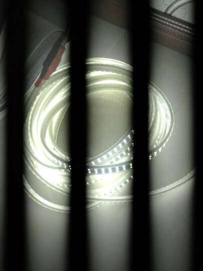 绚科led灯带5050高亮156珠双排2835灯条 客厅吊顶三色遥控暗槽防水光带 2835 双排180珠 正白光 晒单图