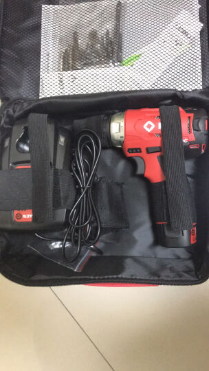 ken锐奇无刷锂电池充电钻手枪转钻BL7212多功能电动工具12V螺丝刀 BL7212-20B双电塑料箱 晒单图