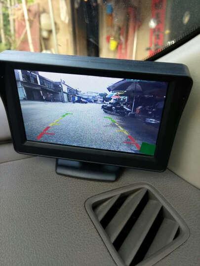 猎速 车载汽车可视倒车影像系统  高清夜视倒车视频影像 12V小车通用 防尘防水 7寸后视镜MP5显示器+高清四灯摄像头+普通线材 晒单图