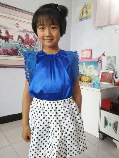 麦兜当家儿童套装童装女夏装蕾丝花边无袖圆领圆点两