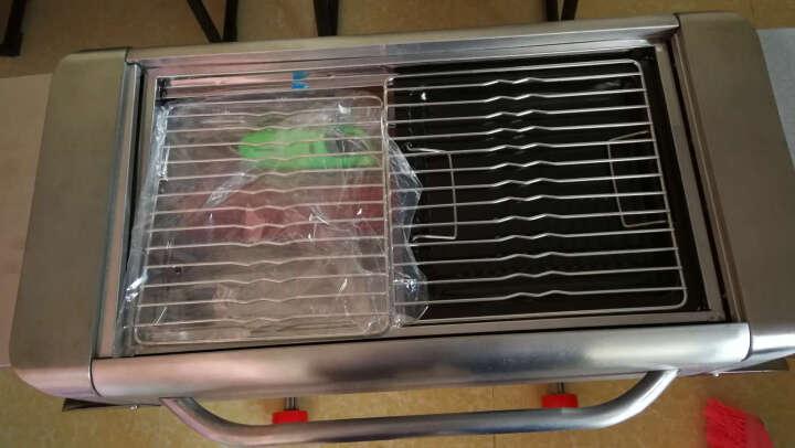 尚烤佳 烧烤炉烧烤架木炭烧烤箱钢甲车烤炉多功能户外移动便携不锈钢烤肉架烧烤工具 晒单图