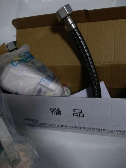 基诺德(JNOD) 电热水龙头冷热两用不锈钢机身即热式电热水器快速厨卫加热SJB-30 漏电插头 晒单图