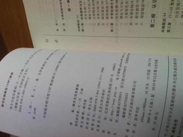 博雅大学堂·中国语言文学:西方文论史教程 晒单图