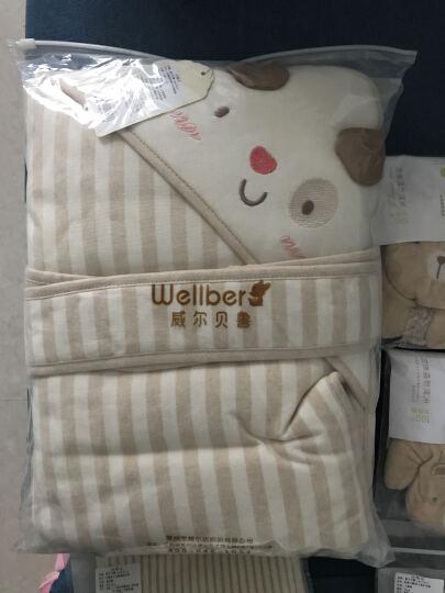 威尔贝鲁WELLBER婴儿抱被包被包巾春秋新生儿用品纯棉秋冬加厚初生宝宝婴幼儿抱毯 兔子100*100(厚棉160g) 加厚棉(建议温度5-15) 晒单图