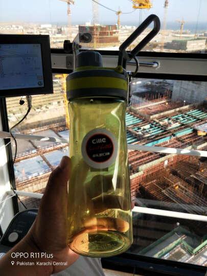 希乐塑料杯便携夏季水杯防漏泡茶杯子男女创意学生随手杯运动水壶运动水杯夏季杯子学生用杯 XL-1610绿色800ML 晒单图