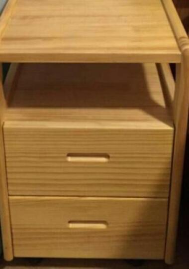 陌兰实木床头柜迷你床边柜小户型现代简约卧室床头桌松木抽屉式储物柜 小号原木色 晒单图