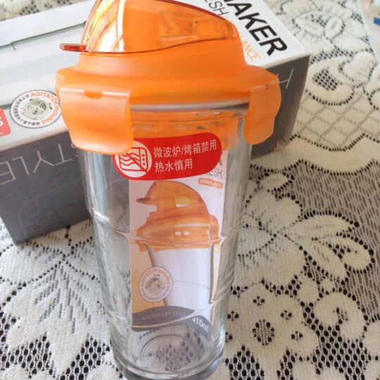 乐扣乐扣 玻璃杯 运动水杯 凉水杯 杯子 摇摇杯 410ml 410ml橙色 晒单图