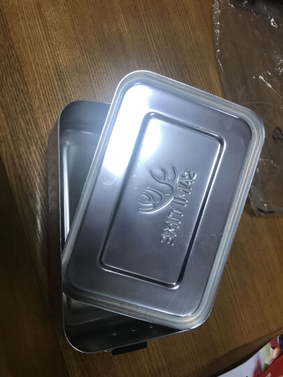 萨米时光铝饭盒户外饭盒微波炉老式 野餐盒军迷用加厚学生 金属色 晒单图