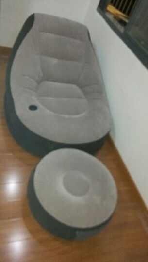 INTEX舒适植绒充气沙发床 单人懒人休闲沙发 午休床 办公室午睡床 折叠床躺椅子凳子 本款+车家两用泵 晒单图