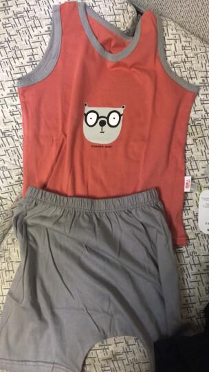 【13款可选】南极人婴儿夏季短袖套衣服男女宝宝宽松背心套装 纱布小梨子-黄色 110cm 晒单图