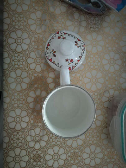 搪瓷杯带盖儿童杯怀旧经典茶缸大号搪瓷茶杯咖啡杯马克杯带盖 8号阿猫阿狗大肚杯7cm 晒单图