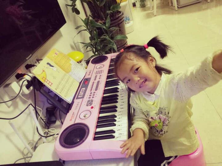 俏娃宝贝(QIAO WA BAO BEI) 电子琴儿童女孩钢琴宝宝益智音乐玩具小孩 学习进阶钢琴键USB版+手机播放+琴贴彩谱黑色 晒单图