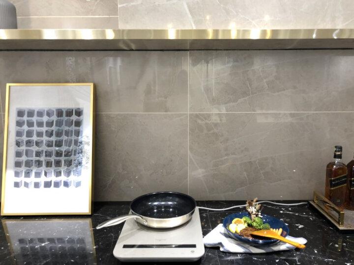 Taigroo钛古电磁炉液晶双屏日本进口面板德国芯片变频连续小火静音超薄电磁灶电池炉IC-A2102 水墨黑裸机 晒单图