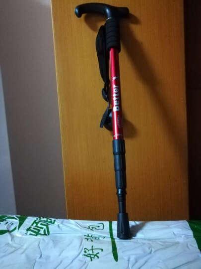 顿巴纵队 户外登山杖滑雪装备伸缩减震登山杖便携徒步健走杖 拐杖110cm 烈火战神 晒单图