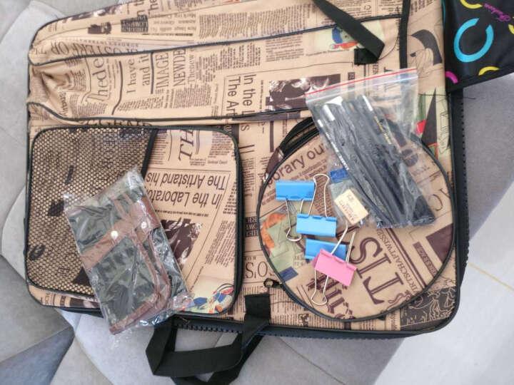 银鹰 素描写生套装4K折叠支架式儿童成人学生双肩背画包画架画板袋 12件套(室内素描) 旗帜款 晒单图