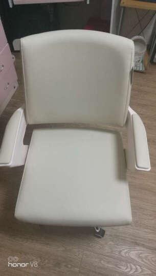 沃舒电脑椅子办公椅家用弓形会议椅老板椅 象牙白 / 五星滑轮款 晒单图