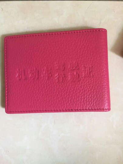 啄木鸟TUCANO男女士新款2018轻薄钱夹韩式头层牛皮信用卡名片夹驾驶证套软 蓝色款 晒单图