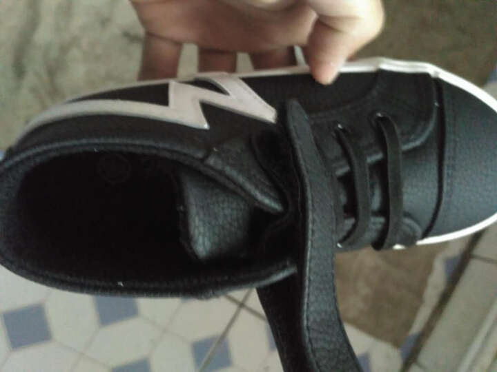 飞耀(FEIYAO) 童鞋男童靴子 冬季防水儿童棉鞋经典高帮魔术贴雪地靴 黑色 36码/内长约22CM 晒单图