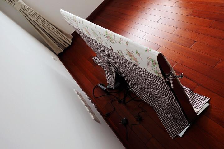 素茧家居 棉麻电视机罩 液晶电视防尘罩 电视盖布 立挂式曲面通用  接受定制 60寸150*90厘米 晒单图