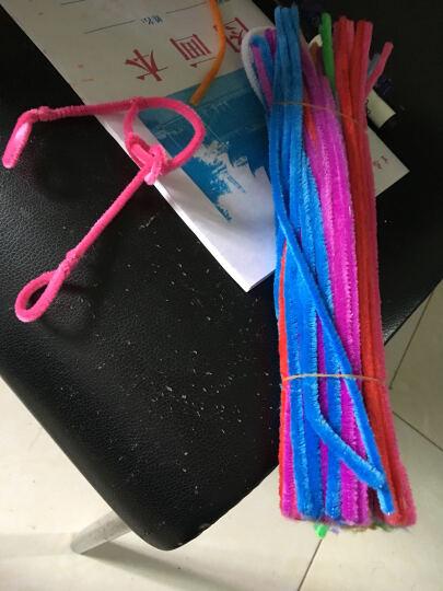 大贸商 彩色绒条毛根条扭扭棒100根 幼儿园 儿童手工制作diy材料 荧光黄色 100根 晒单图