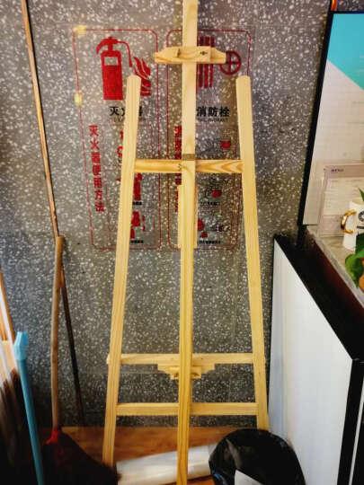 木质展架支架展示架海报架广告架子立式kt板展架广告架展板立牌实木画架美术画板素描折叠支架式 金框60*90cm 晒单图