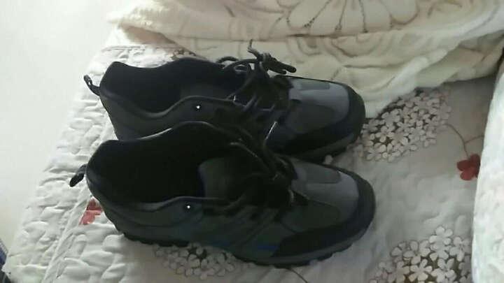 通克 劳保鞋男 安全鞋工作鞋透气电工焊工厨师绝缘夏季徒步登山鞋 灰色 40 晒单图