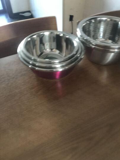东郎 炫彩漂亮不锈钢汤盆洗菜盆厨房料理盆加厚加深 20cm绿色 晒单图