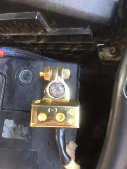 威火仕汽车音响改装电瓶分线器接线器 电池头 电池夹正负级+ - 电瓶夹接头 -负极电瓶头一个 晒单图