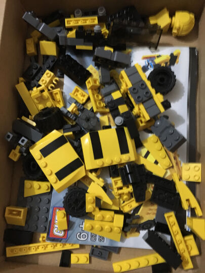 古迪儿童积木组装拼装拼插拼图变形玩具金刚机器人大黄蜂擎天柱飞机模型兼容乐高男孩益智玩具新乐新 黄蜂金刚 晒单图