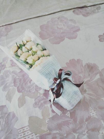 IDY 生日鲜花速递同城 玫瑰花礼物真花 香槟玫瑰花束礼盒满天星 每周一花快递送花北京上海花店 【厄瓜多尔进口】9朵蓝白玫瑰|宣布我爱你 平日价 晒单图