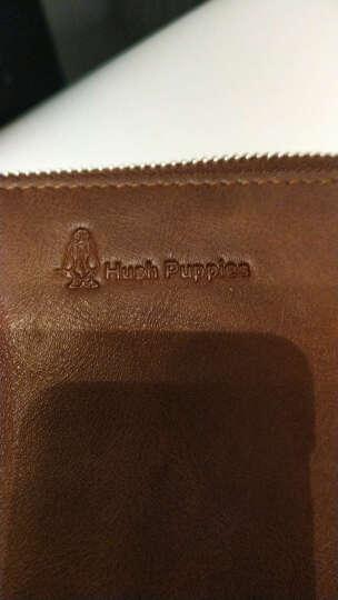 暇步士(Hush Puppies)男士长款钱包青年PU手包大容量手拿包男钱夹 啡色小号5115 晒单图