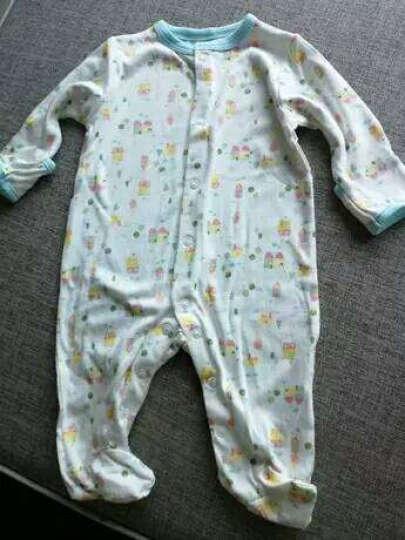 Mamiescare 外贸新生儿婴儿纯棉包脚连体衣哈衣 男女宝宝长袖爬服睡衣组合 h003 0-3个月 晒单图