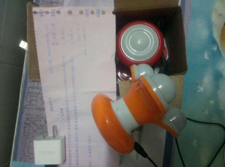 荣跃 按摩器震动小型电动三角按摩器全身便携式 橘色 晒单图