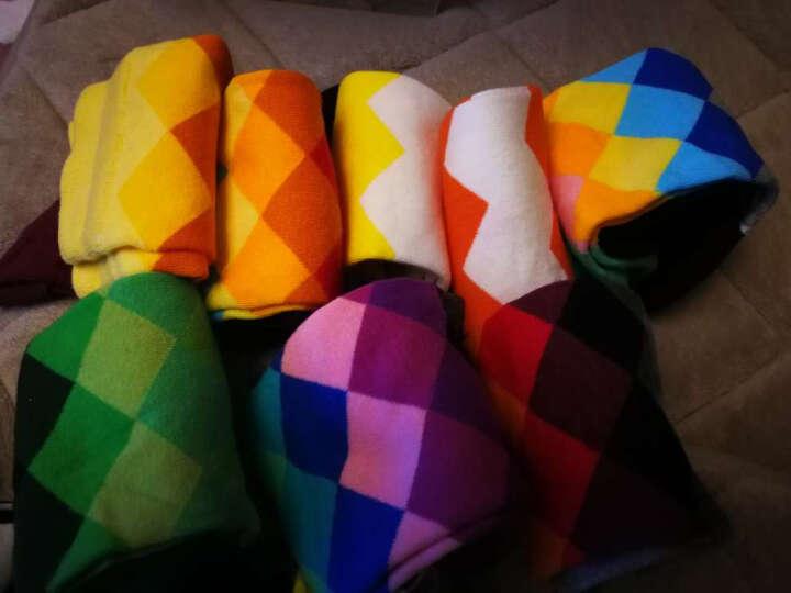 猫人(MiiOW)【8双】男士长袜男棉质活力波纹款运动中筒袜子男袜 晒单图