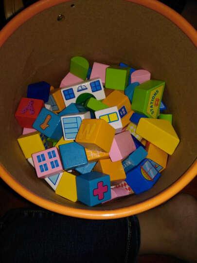 铭塔148粒儿童场景积木玩具 婴幼儿童宝宝男女孩木制质拼装 早教启蒙大块桶装 晒单图