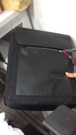 红谷HONGU男士双肩包休闲时尚商务背包旅行包大容量简约男包 H52941691漆黑 晒单图