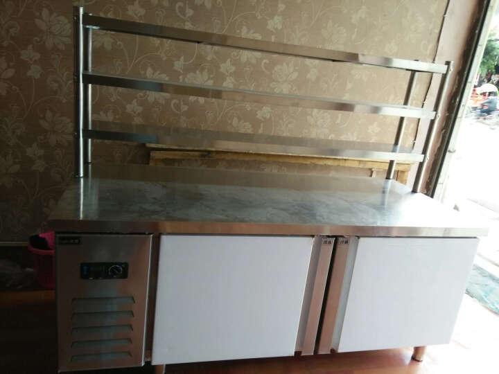 来博 保鲜工作台 商用卧式冰柜 双温不锈钢冷柜冰箱 商用保鲜冷藏冷冻工作台卧式冰柜 平冷操作台冰箱 台面三层层架(配件) 1.2*0.8*0.8米 晒单图