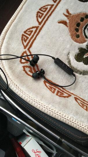 硕华科  无线运动蓝牙耳机金属头入耳式音乐耳麦 重低音炮 高清通话 手机通用 钢琴白 晒单图