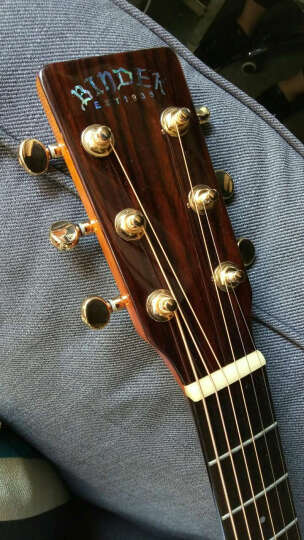 宾德(BINder) 【顺丰配送】民谣吉他 41寸单板缺角木吉他乐器 原木色吉它终生维修 M系列M-21 晒单图