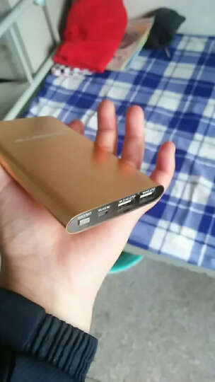 AP奥鹏充电宝6000毫安聚合物移动电源双向快充超薄小巧便捷金属外壳苹果安卓VIVO小米三星 蓝色6000毫安 晒单图