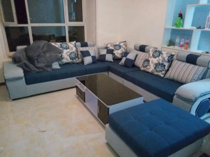 佐尔适 沙发客厅整装可拆洗布艺沙发组合 【标准版】四件套+送茶几 晒单图