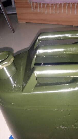 佳固 加厚铁汽油桶30升20升10升5L便携备用油箱摩托汽车大小带油管 精品方油桶20L(带管+2手套) 晒单图