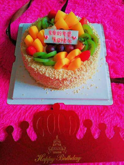 麦味美(mawemand) 生日蛋糕同城配送蛋糕全国预定鲜花水果蛋糕定制儿童北京上海广州 香槟玫瑰鲜花蛋糕(可定制) 8寸/2磅 晒单图