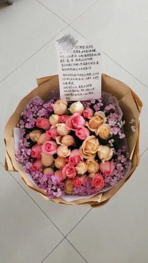 欣尚 情人节鲜花速递33朵混搭红玫瑰花束送女友老婆生日礼物预定全国同城送花上门 33朵红粉白香槟玫瑰混搭—时尚女王款 晒单图