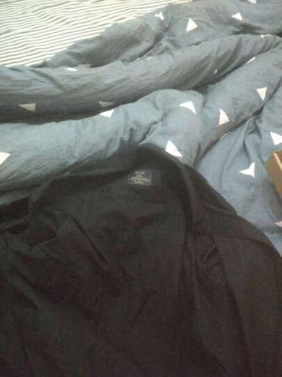 非凡领袖 长袖衬衫男2018秋季商务正装免烫衬衣修身休闲寸衫工作服纯白斜纹 浅蓝色-有口袋 40 晒单图