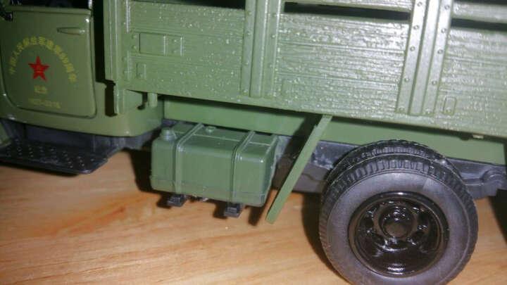 解放牌合金军事模型儿童玩具车声光回力仿真金属坦克直升飞机导弹运输车汽车摆件 辽宁号航母 晒单图