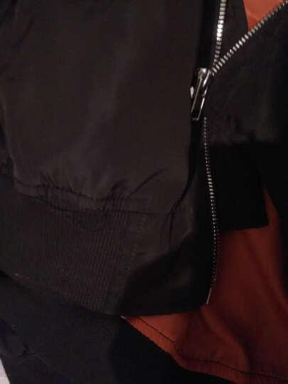 【@头号青年】楠笙记 连帽外套男加绒男生条纹夹克学生保暖外套男街舞衣服社会小伙网红同款外套嘻哈棒球服 黑色款 L(尺码偏大建议拍小一码) 晒单图